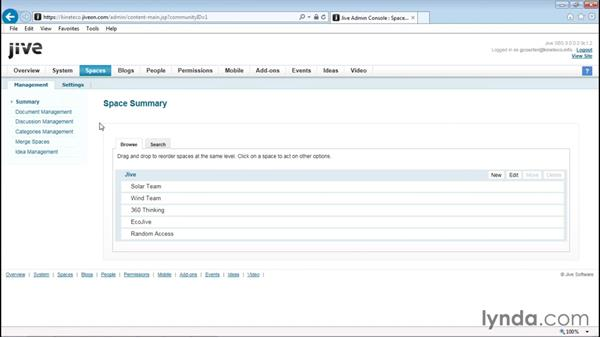 Assigning a document approver for a space: Up and Running with Jive Administration