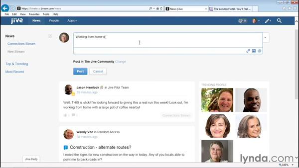 Updating your status: Up and Running with Jive