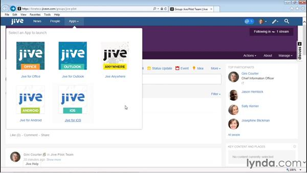 Downloading Jive Mobile: Up and Running with Jive