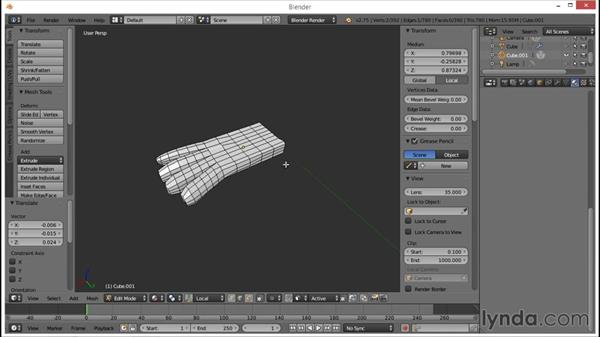 Blocking out the hands and duplicate fingers: Blender: Creating a Game Character