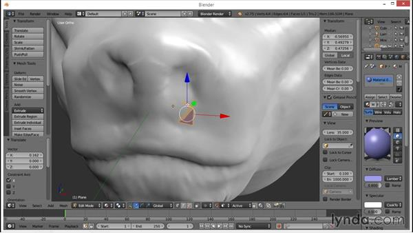 Using retopo to make the head base: Part 1: Blender: Creating a Game Character