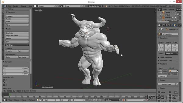 Duplicating the mesh and creating low and high variations: Blender: Creating a Game Character