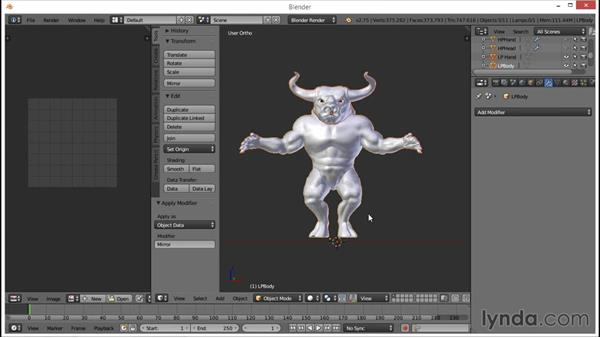 Combining the UV elements into one UV space: Blender: Creating a Game Character