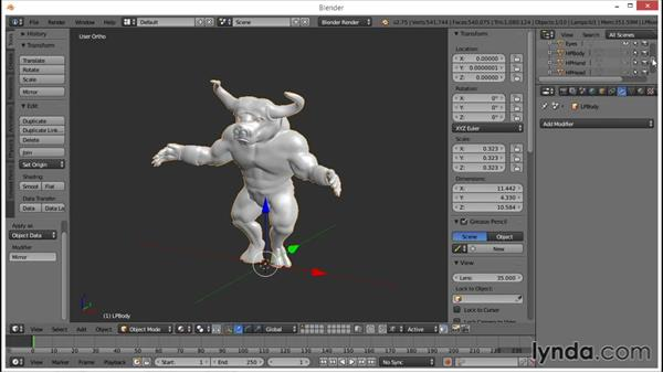 Exporting the models: Blender: Creating a Game Character