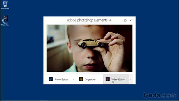 Launching the Welcome screen: Photoshop Elements 14 Essential Training