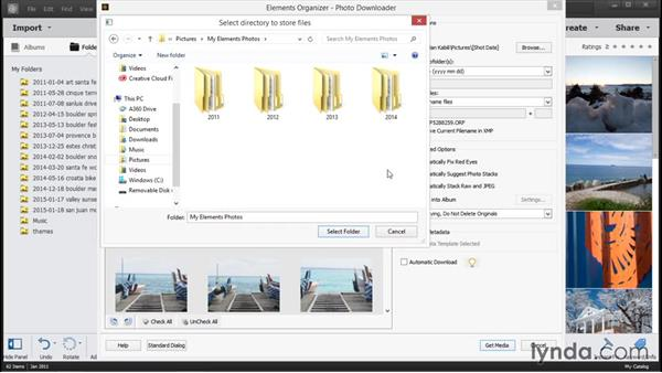 Importing photos from a camera: Photoshop Elements 14 Essential Training