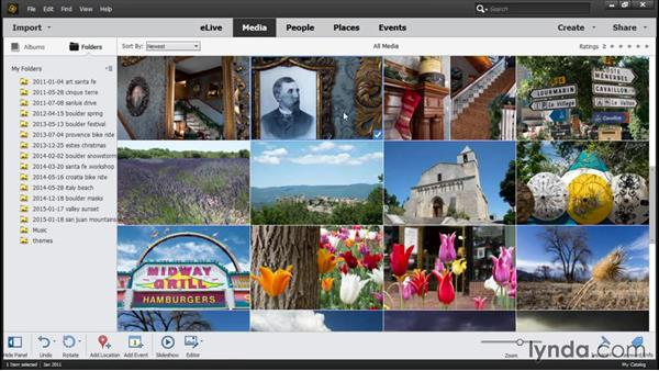 Accessing imported photos in the Organizer: Photoshop Elements 14 Essential Training