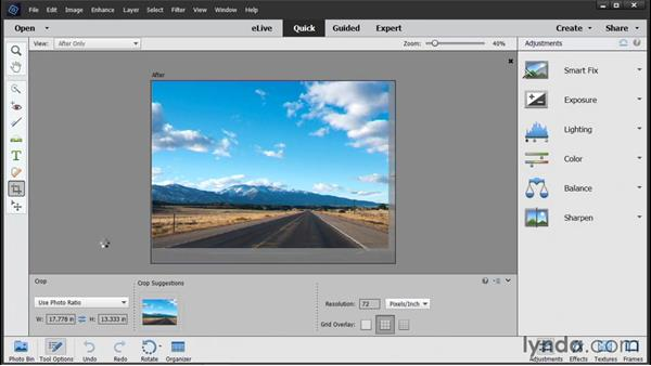 Cropping photos: Photoshop Elements 14 Essential Training