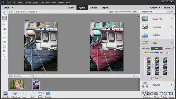 Adjusting color: Photoshop Elements 14 Essential Training