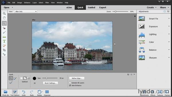 Fixing selected areas: Photoshop Elements 14 Essential Training