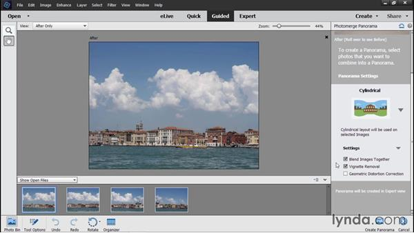 Creating a Photomerge Panorama: Photoshop Elements 14 Essential Training