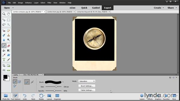 Overview of the Expert Edit workspace: Photoshop Elements 14 Essential Training