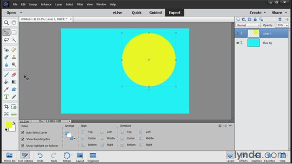 Building a layered file: Photoshop Elements 14 Essential Training