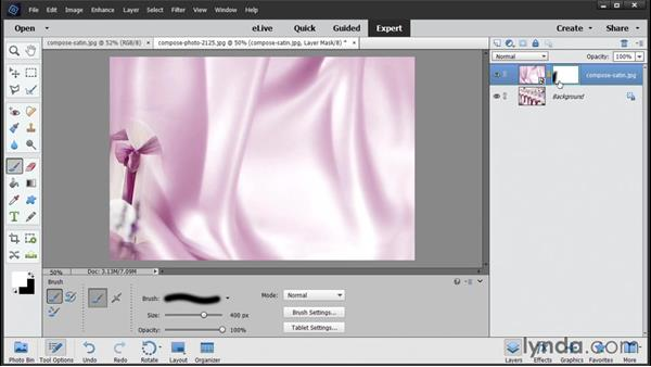 Compositing with layer masks and selections: Photoshop Elements 14 Essential Training