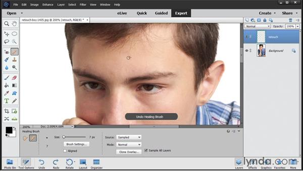 Retouching portraits: Photoshop Elements 14 Essential Training