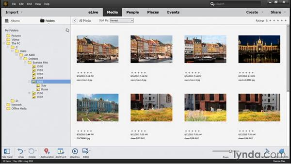 Moving files the right way: Photoshop Elements 14 Essential Training