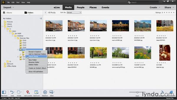 Safely removing photos from the catalog: Photoshop Elements 14 Essential Training