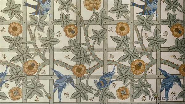 Textiles and patterns: Foundations of Graphic Design History: The Arts and Crafts Movement