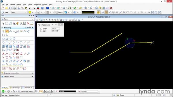 Using view alignment in AccuDraw: Up and Running with Bentley MicroStation