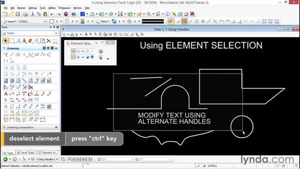Using Element Selection: Up and Running with Bentley MicroStation