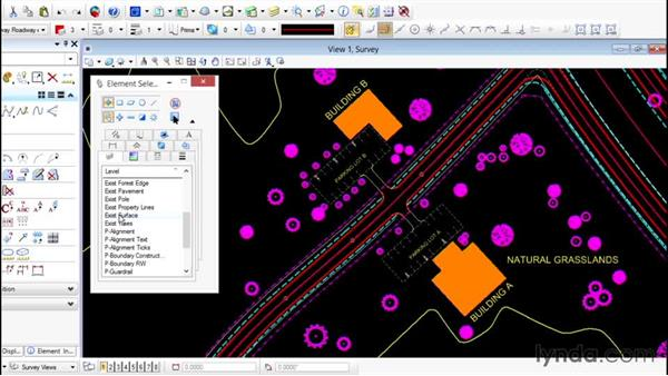 Selecting elements graphically: Up and Running with Bentley MicroStation