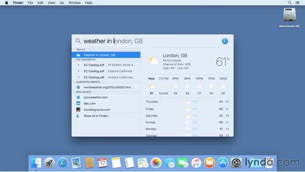 Searching in Spotlight: Mac OS X El Capitan New Features