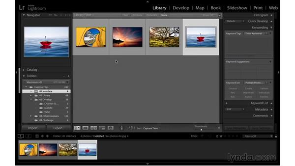 Selecting the best screen mode: Exploring Lightroom: Power Shortcuts