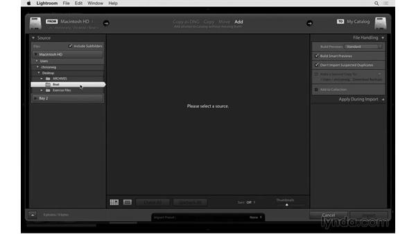 Importing faster: Exploring Lightroom: Power Shortcuts