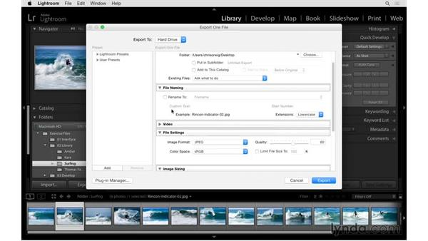 Editing in Photoshop and Export: Exploring Lightroom: Power Shortcuts