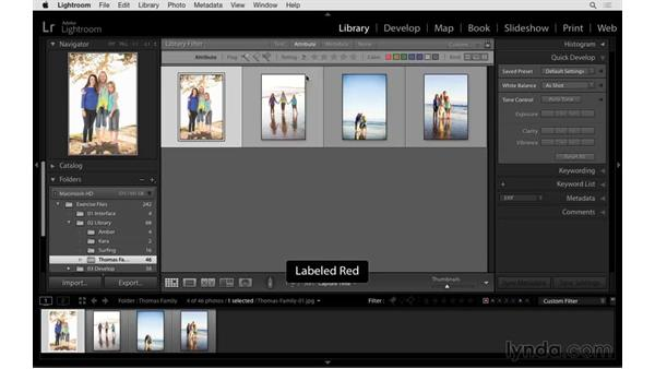 Filtering based on stars, labels, or flags: Exploring Lightroom: Power Shortcuts