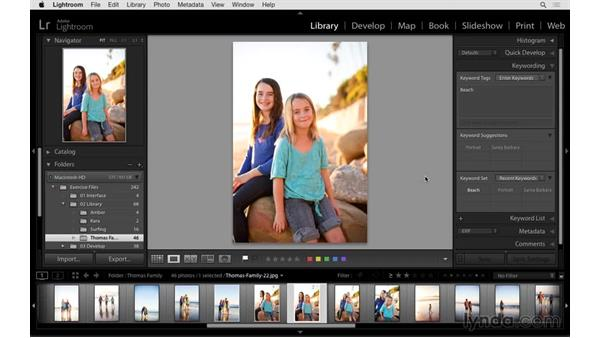 Reviewing two shortcuts for keywording: Exploring Lightroom: Power Shortcuts