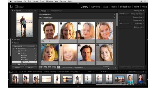 Using face-tagging shortcuts: Exploring Lightroom: Power Shortcuts