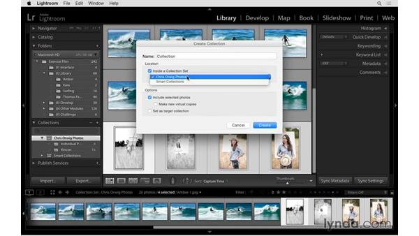 Creating and using collections: Exploring Lightroom: Power Shortcuts