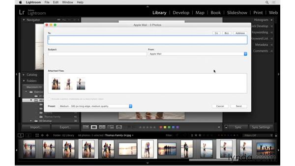 Shortcuts for emailing your photos: Exploring Lightroom: Power Shortcuts
