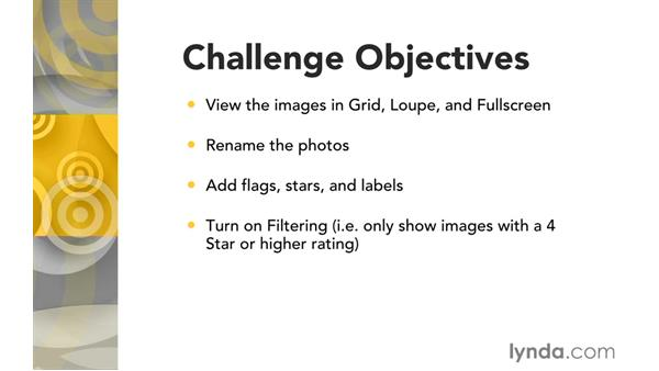 Challenge: Navigate, rate, and filter: Exploring Lightroom: Power Shortcuts