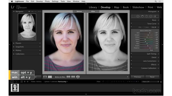 Before-and-after views of your photos: Exploring Lightroom: Power Shortcuts