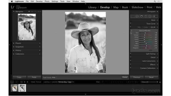 Solution: Edit and improve a portrait: Exploring Lightroom: Power Shortcuts