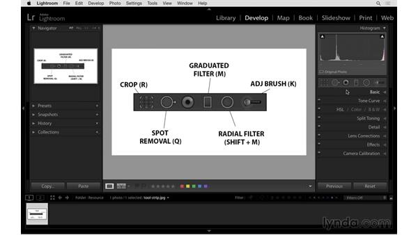 Selecting the tools: Exploring Lightroom: Power Shortcuts