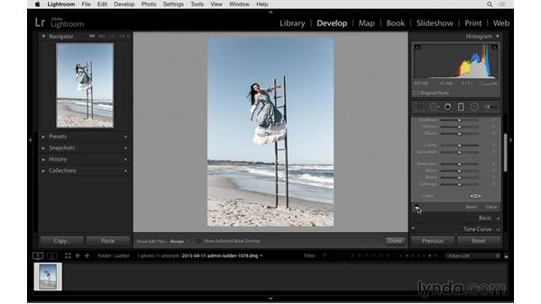 Solution: Edit and improve a photo: Exploring Lightroom: Power Shortcuts