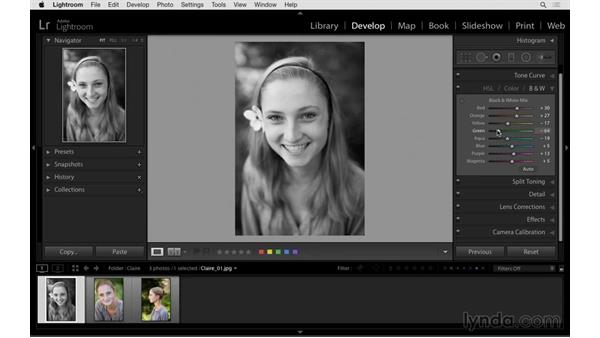 Quickly applying the previous settings: Exploring Lightroom: Power Shortcuts