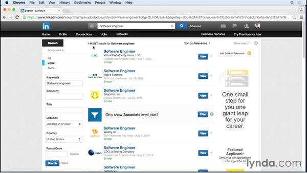 Customizing Jobs You May Be Interested In, and creating search alerts: Up and Running with LinkedIn Premium Job Seeker
