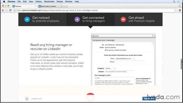 Upgrading to a Premium Job Seeker account: Up and Running with LinkedIn Premium Job Seeker