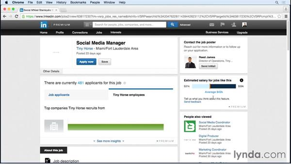 Using the PayScale tool: Up and Running with LinkedIn Premium Job Seeker