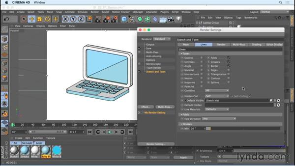 Learning the basics of Sketch and Toon: Creating Motion Graphics with Sketch and Toon in CINEMA 4D