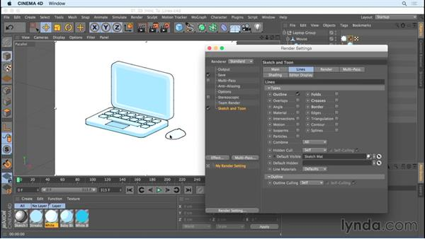 Introducing line types: Creating Motion Graphics with Sketch and Toon in CINEMA 4D