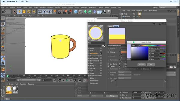 Achieving flat shading using Cel Shader: Creating Motion Graphics with Sketch and Toon in CINEMA 4D