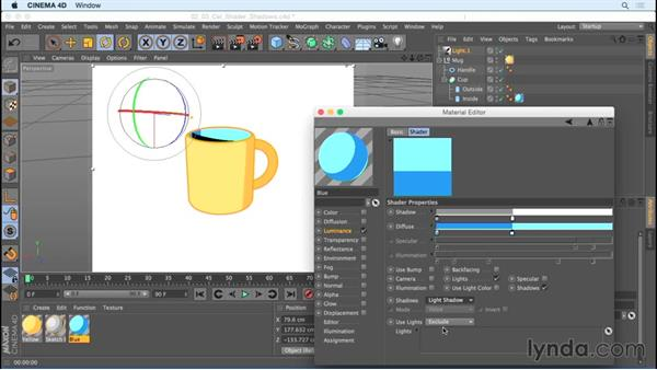 Casting shadows with lights: Creating Motion Graphics with Sketch and Toon in CINEMA 4D