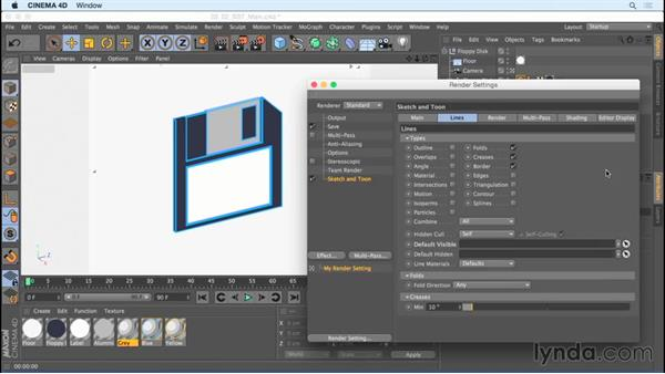 Using the Main tab options: Creating Motion Graphics with Sketch and Toon in CINEMA 4D