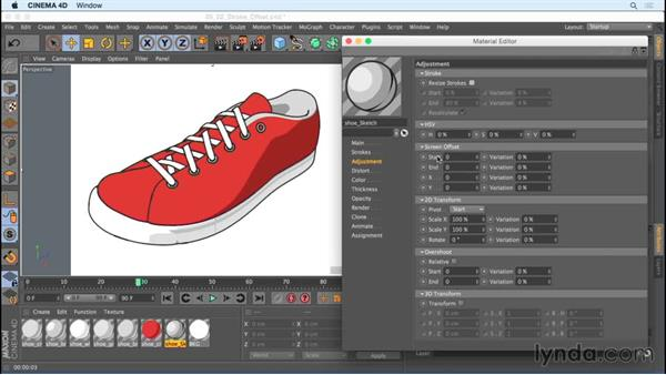 Creating an offset printing style with stroke offset options: Creating Motion Graphics with Sketch and Toon in CINEMA 4D
