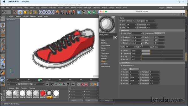 Creating stylized sketch looks with cone options: Creating Motion Graphics with Sketch and Toon in CINEMA 4D